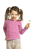 Little girl with a lollipop Stock Photo