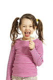 Little girl with a lollipop Royalty Free Stock Photos