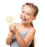 Little girl with lollipop Royalty Free Stock Images