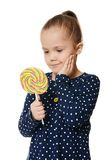 The little girl with lollipop Royalty Free Stock Photo