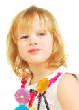 Little girl with lollipops  isolated Stock Images