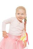 Little girl with a long braid Royalty Free Stock Image