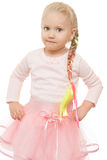 Little girl with a long braid Stock Images