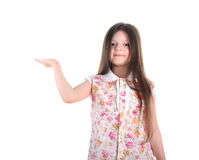 Little girl with long hair Royalty Free Stock Images