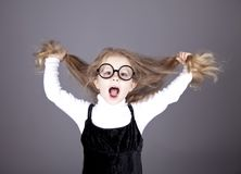 Little girl with long hair. Royalty Free Stock Photo