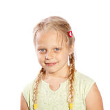 A little girl with long plaits Stock Image