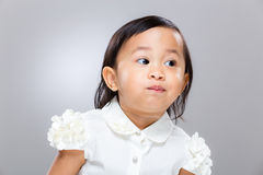 Little girl look away Stock Images