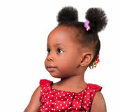 Little girl looking. African american little girl looking isolated Stock Images