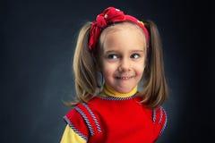 Little girl looking aside Stock Photo