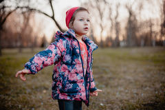 Little girl looking into the distance. Stock Photography