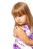 Little girl looking over her shoulder Stock Images