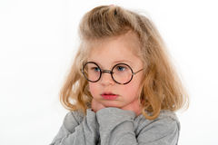 Little girl looking sad Royalty Free Stock Image