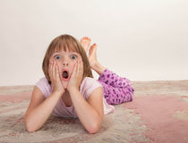 Little girl looking surprised Royalty Free Stock Photography
