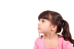 Little girl looking up Stock Image