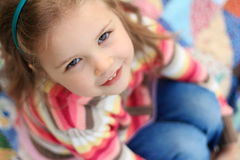 Little girl looking up Royalty Free Stock Image