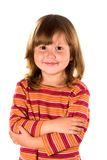 Little girl looking at you. Portrait of serene little girl looking at you with kind smile Stock Image