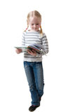 Little Girl Looks In Book Stock Photography