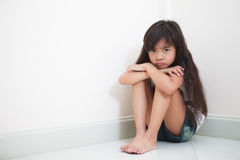 Little girl looks sad Royalty Free Stock Images