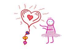 Little Girl Love stock illustration