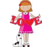 Little Girl Love Royalty Free Stock Photos