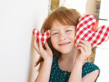 Little girl and love concept Stock Photo