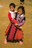 Little girl during Love Market festival in Vietnam Royalty Free Stock Photos