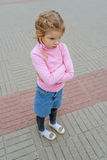Little girl mad Royalty Free Stock Photo