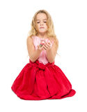 Little Girl with Magic Ball Dreams Stock Images