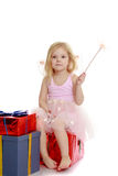 Little girl with a magic wand. Stock Photography