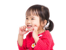 Little girl make funny face Royalty Free Stock Images