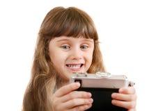 Little Girl make a Selfie Stock Photo