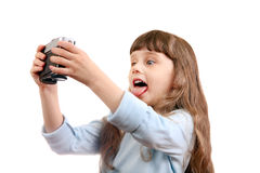 Little Girl make a Selfie Royalty Free Stock Photo