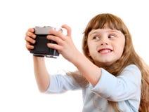 Little Girl make a Selfie Stock Image