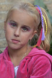Little girl with make up. Little girl goes to the kids disco with make up Royalty Free Stock Photography