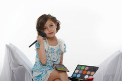 Little girl make up Stock Photo