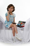Little girl make up Royalty Free Stock Images