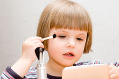Little girl make up Royalty Free Stock Photography