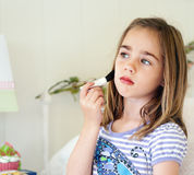 Little Girl Makeup Royalty Free Stock Images