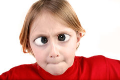 Little Girl Making Face Royalty Free Stock Photo