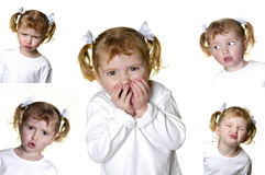 Little Girl Making Faces Stock Image