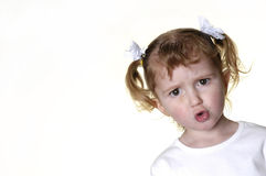 Little Girl Making Faces 9 Royalty Free Stock Photos