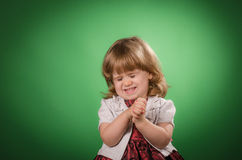 Little girl making faces Royalty Free Stock Photo