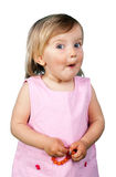 Little girl making funny face. This image has attached release Stock Photos