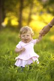 Little girl  making funny faces Stock Photography