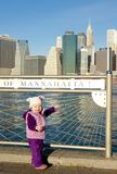 Little girl at Manhattan Royalty Free Stock Images