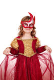 Little girl with mask Royalty Free Stock Image