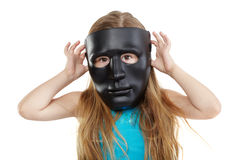 Little girl in mask Royalty Free Stock Photos
