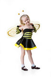 Little Girl In Masquerade Clothing royalty free stock images