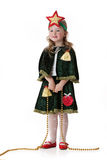 Little Girl In Masquerade Clothing Royalty Free Stock Photos