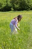Little girl in a meadow Stock Photo